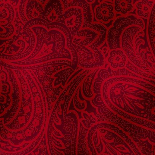 Radiant Paisley - Brick Red