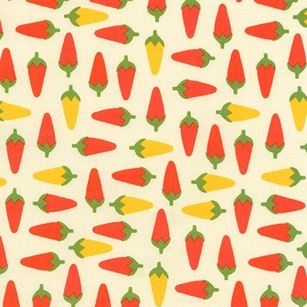 Cute Little Chiles - Cream Fabric