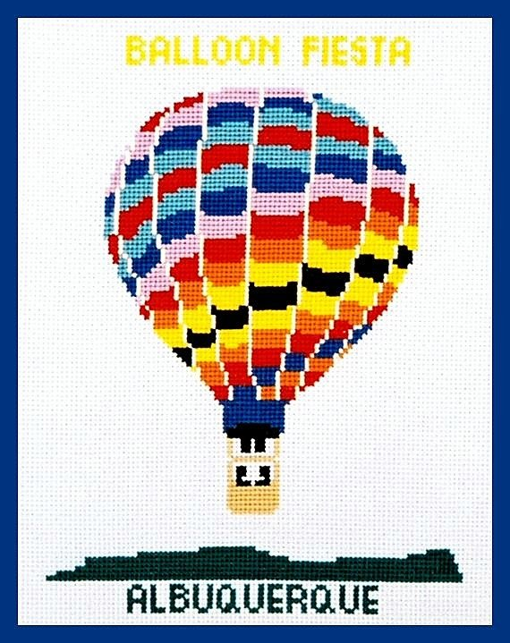 Hot Air Balloon II Counted Cross Stitch Chart