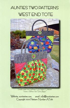 Aunties Two West End Tote Pattern