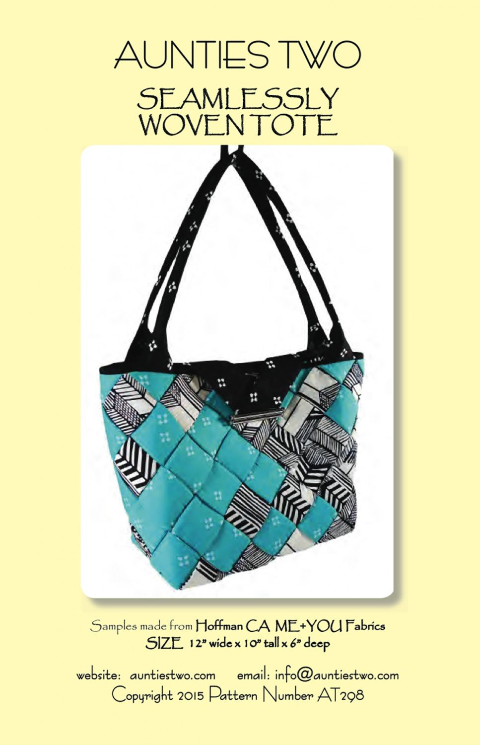 Aunties Two Seamlessly Woven Tote Pattern