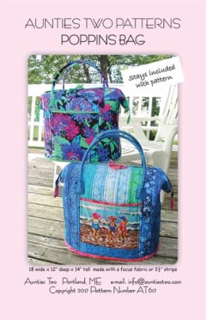 Aunties Two Poppins Bag Pattern w/Stays