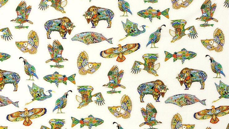 Animal Spirits Animals - Multi Digital Fabric