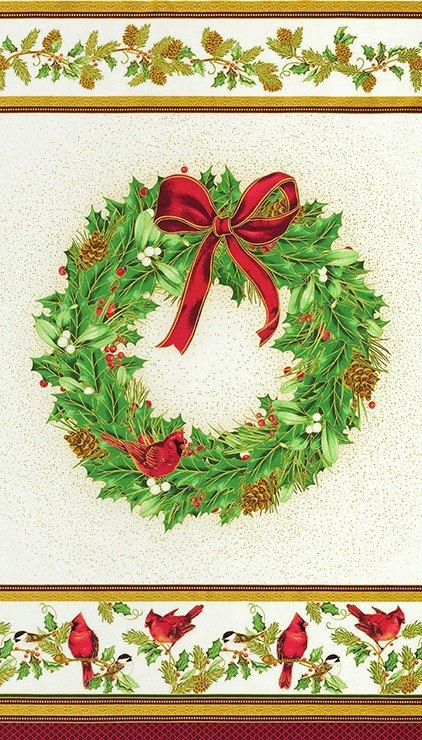 Winter's Grandeur 9 - Holiday Wreath Panel