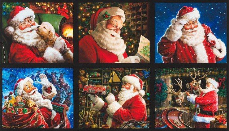 Jolly Saint Nick Panel 24 x 42