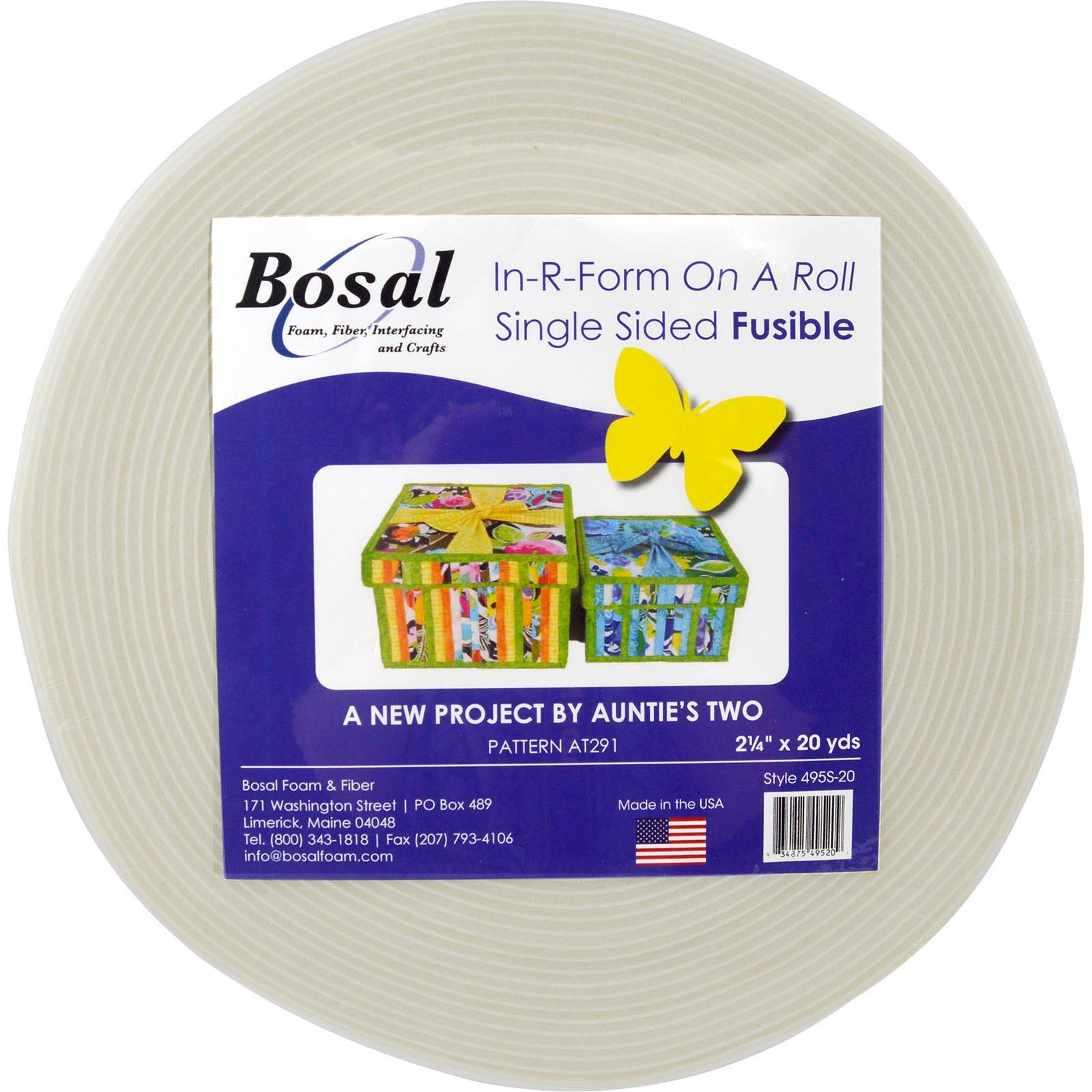 Bosal In-R-Form on a Roll Single Sided Fusible ( 2.25 x20 yds))