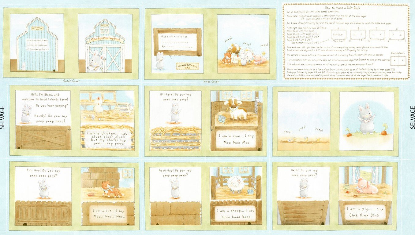 Bunnies 24 Book Panel