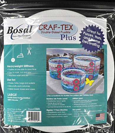 Bosal Craf-Tex Plus Camden Bowl Large Double Sided Fusible Stabilizer