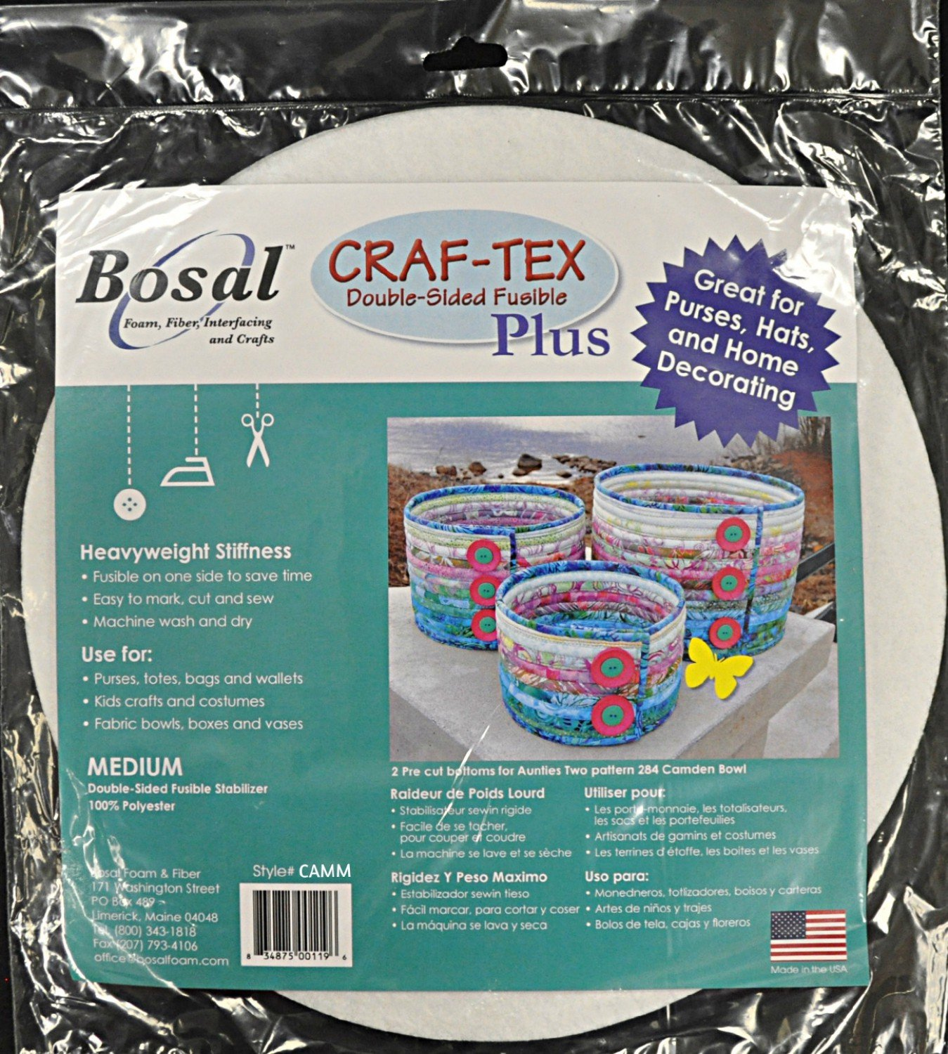 Bosal Craf-Tex Plus Camden Bowl Medium Double Sided Fusible Stabilizer