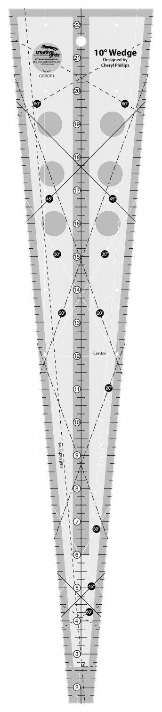 Creative Grids Non-Slip 10 Degree Wedge Ruler