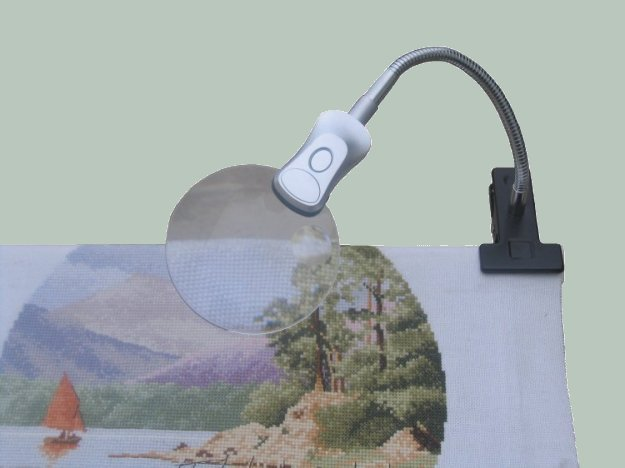 Mini-Clip Magnifier Light