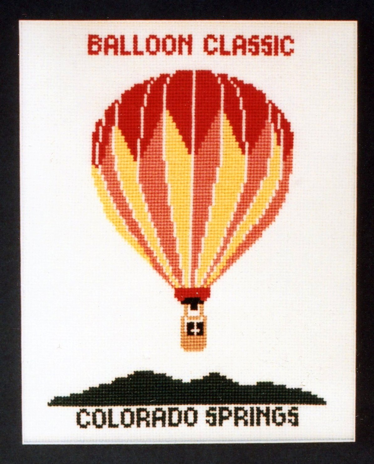 Hot Air Balloon I Counted Cross Stitch Chart