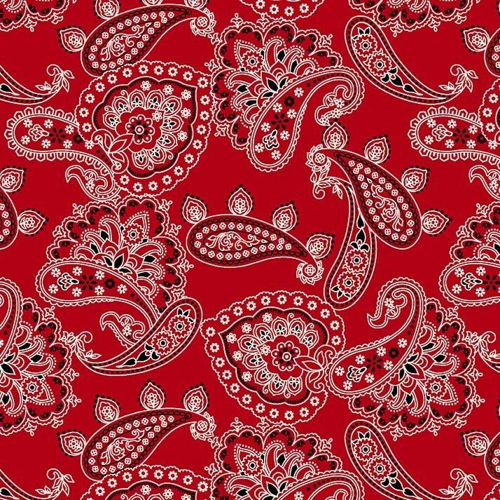 Bandana Allover Paisley - Red