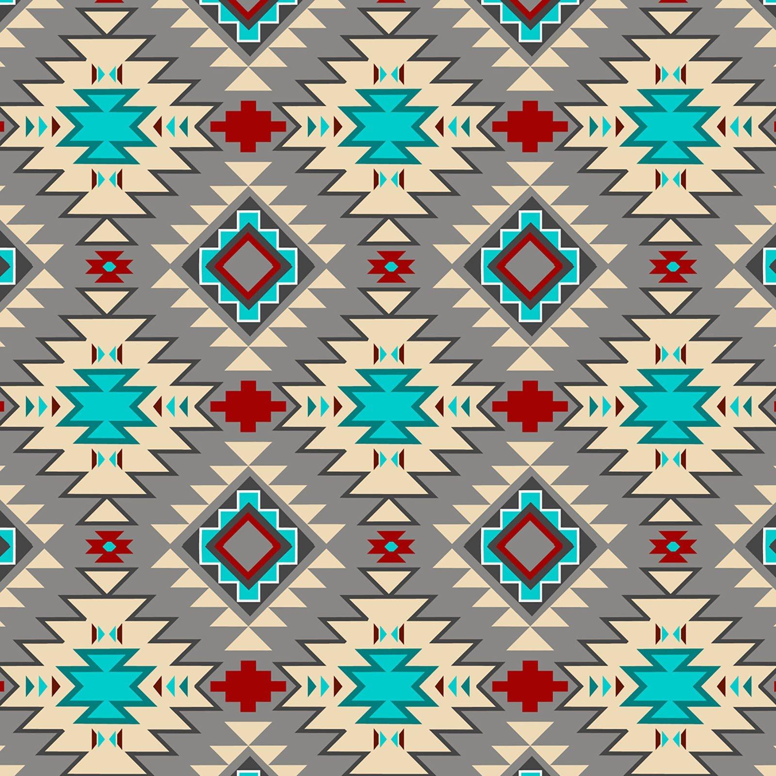 Native Argyle  - Gray/Multi Fleece