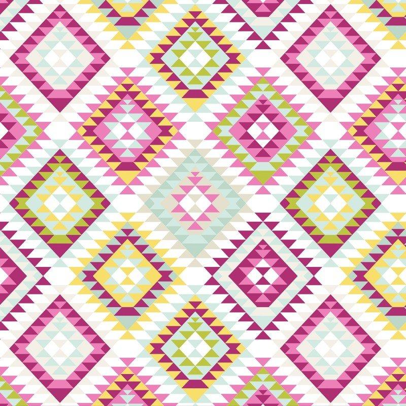 Aztec Tribal - Rose Pink Fleece