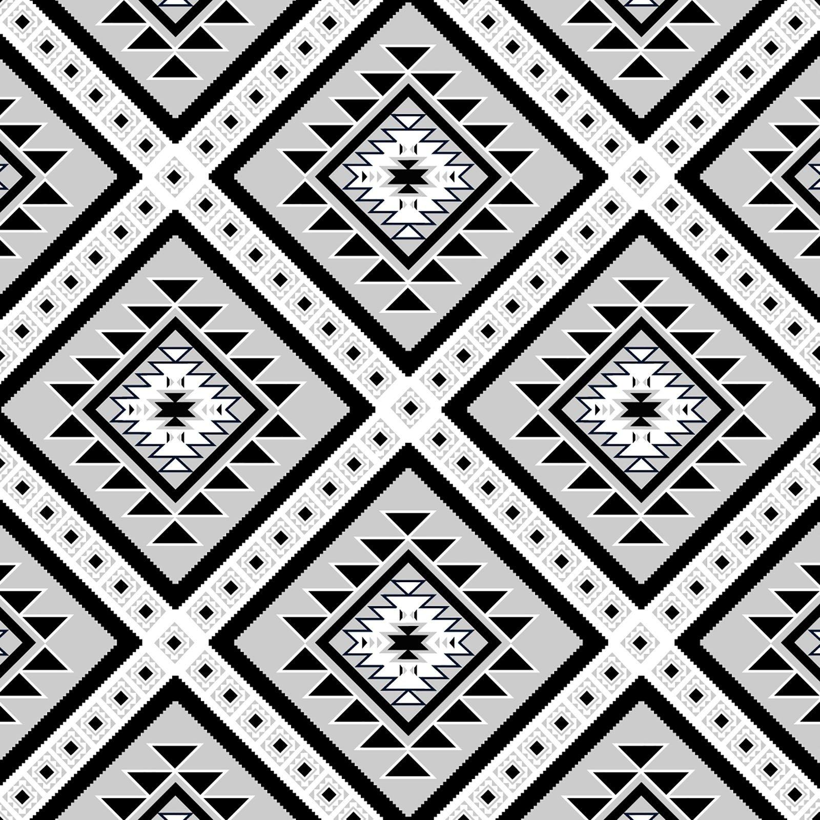 Ethnic Diamonds  - Gray/Black Fleece