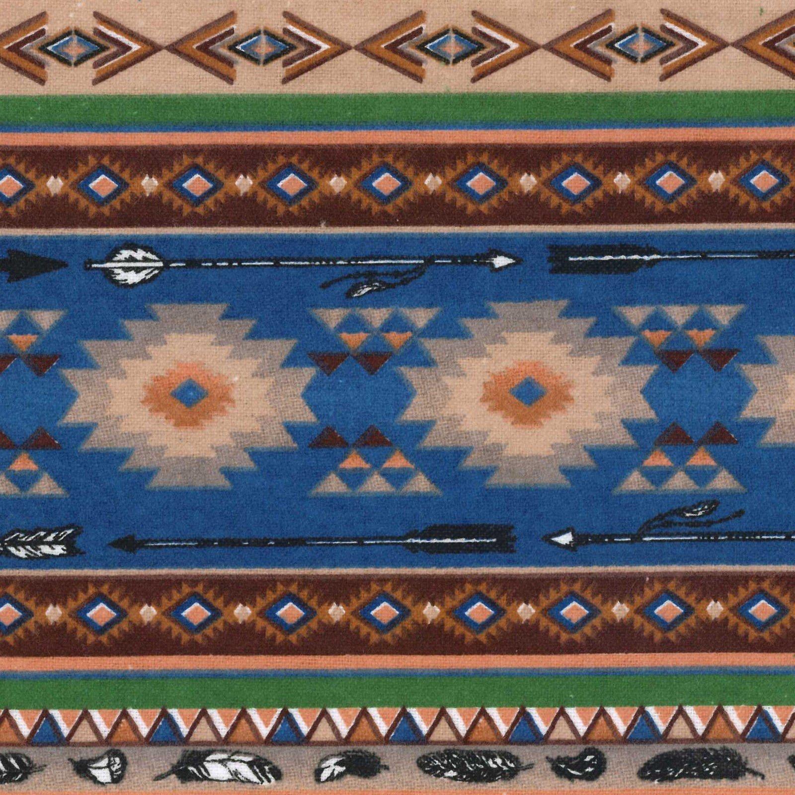 Southwest Stripe - Navy Flannel