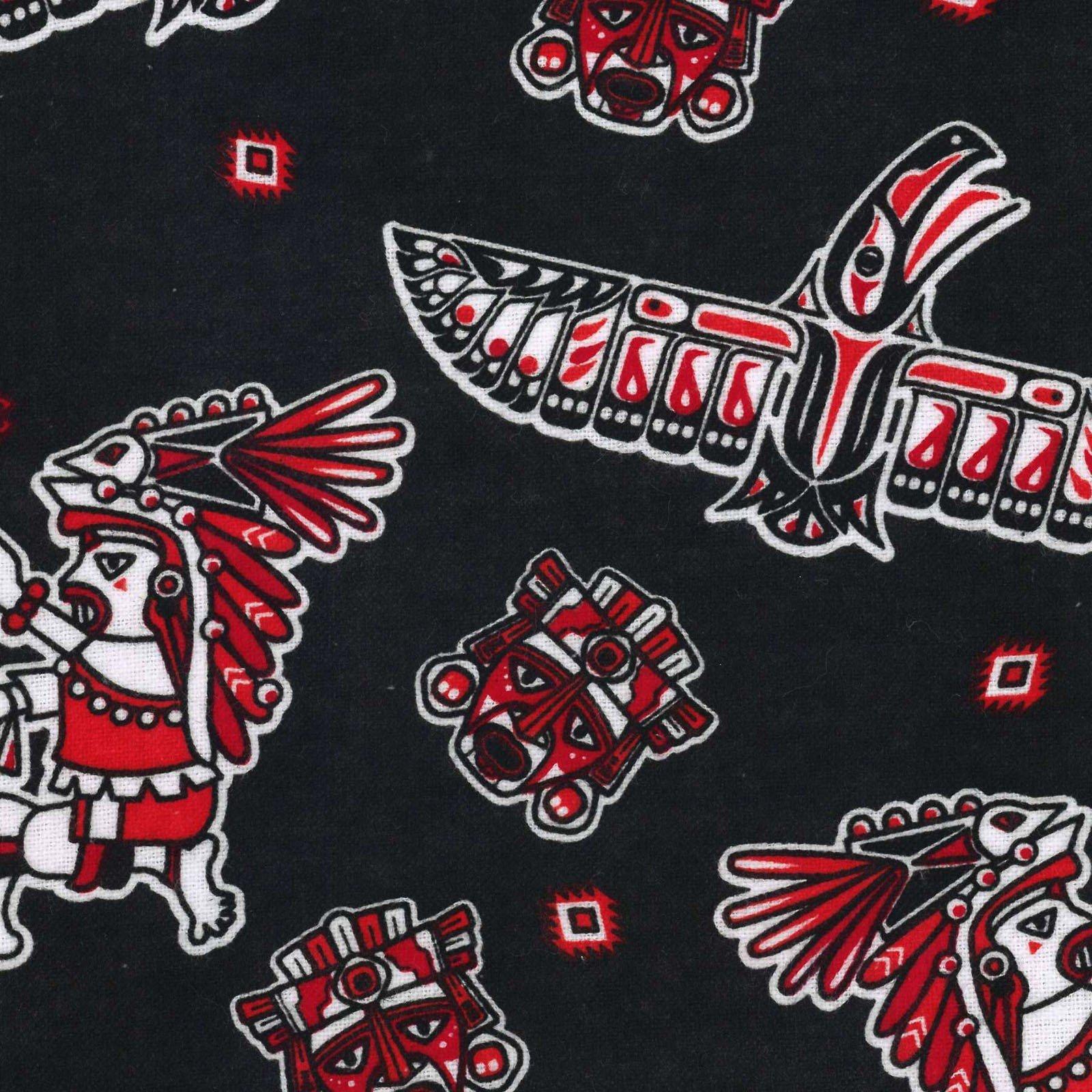 Southwest Eagles - Black/Red Flannel