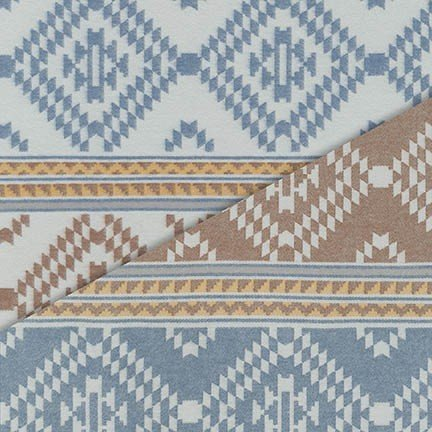 Taos Pueblo Weave - Blue Flannel