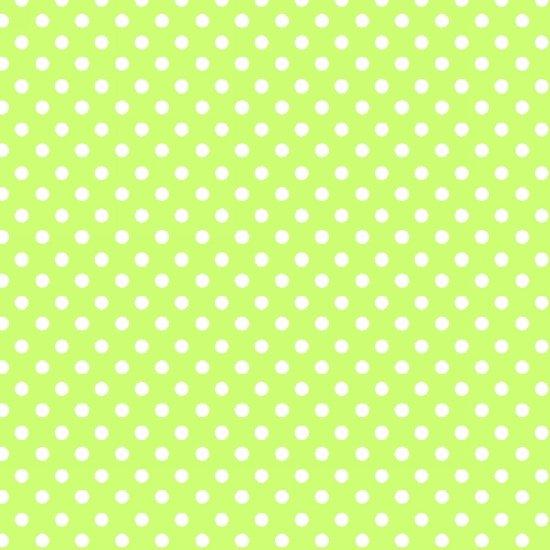 Panda-Monium Dots  - Green FLANNEL
