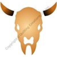 Buffalo Skull Paint Stencil