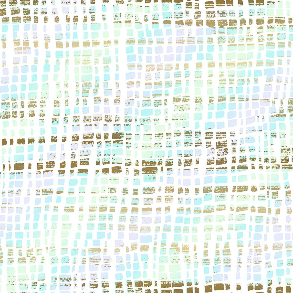 SO Good as Gold Silk Scarf - Opal Metallic Fabric