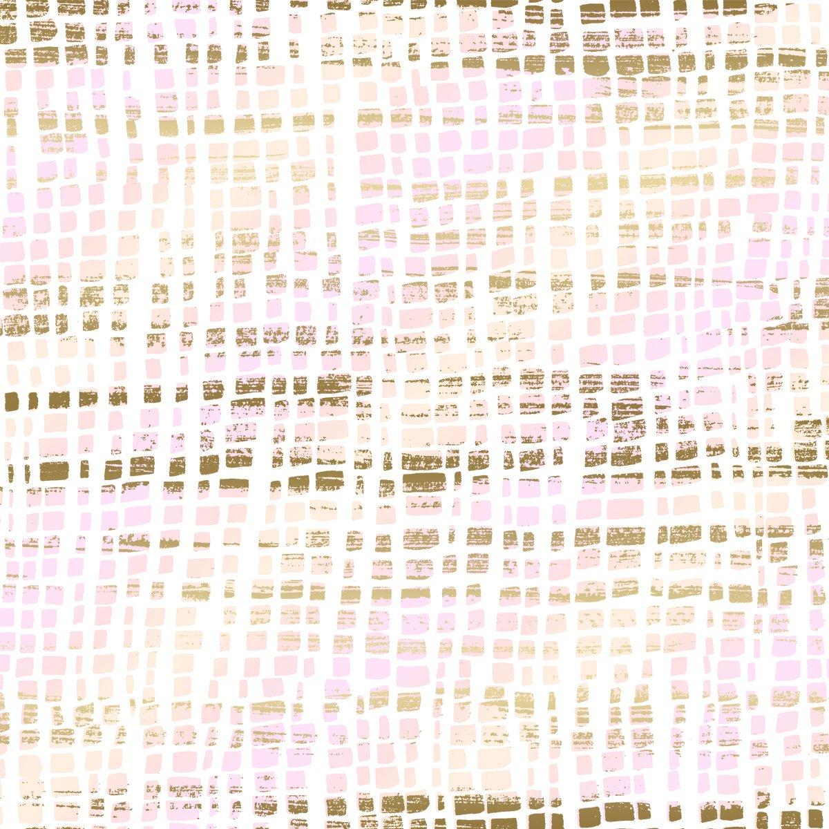 SO Good as Gold Silk Scarf - Rose Gold Metallic Fabric