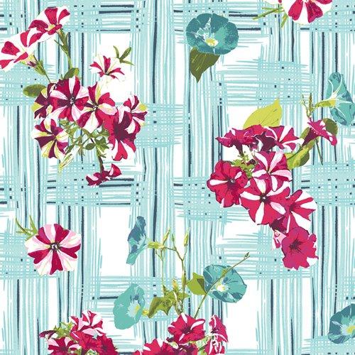 Floralish - Petunia Garden Treillage Fabric