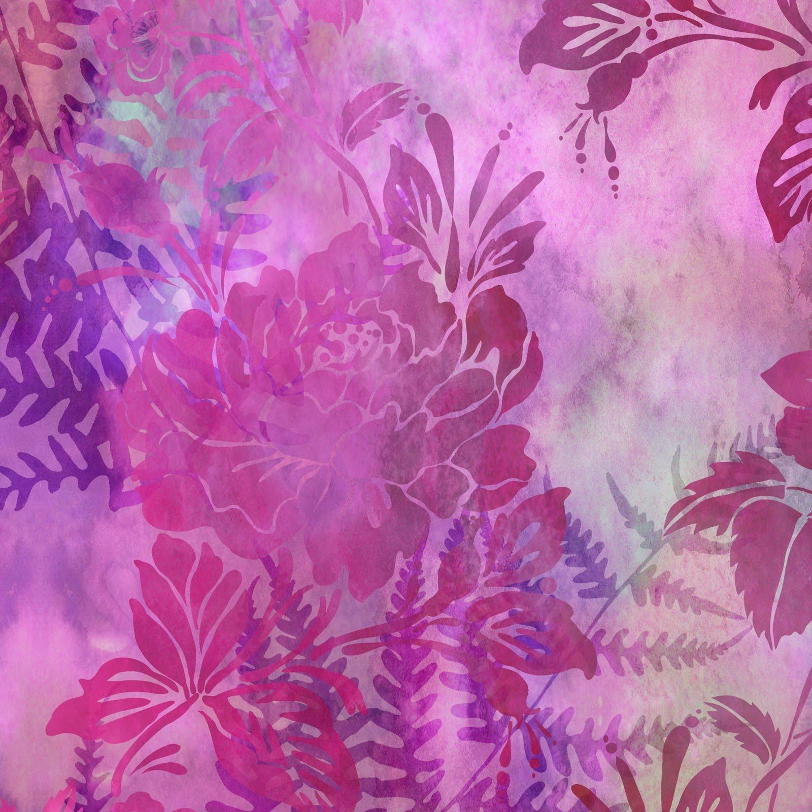 Garden of Dreams Floral - Vivid Pink Digital Fabric