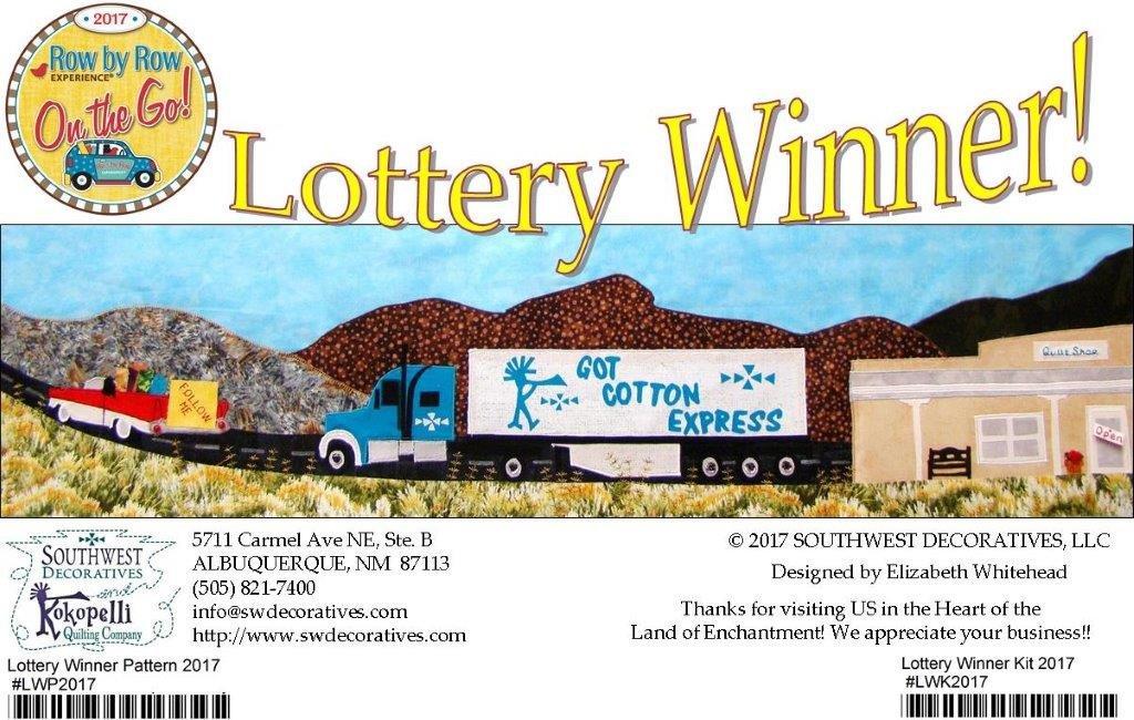Lottery Winner- 2017 Row By Row Experience