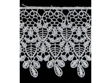 Venise Lace - Silver Metallic Polyester 3.125