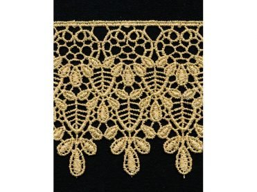 Venise Lace - Gold Metallic Polyester 3.125