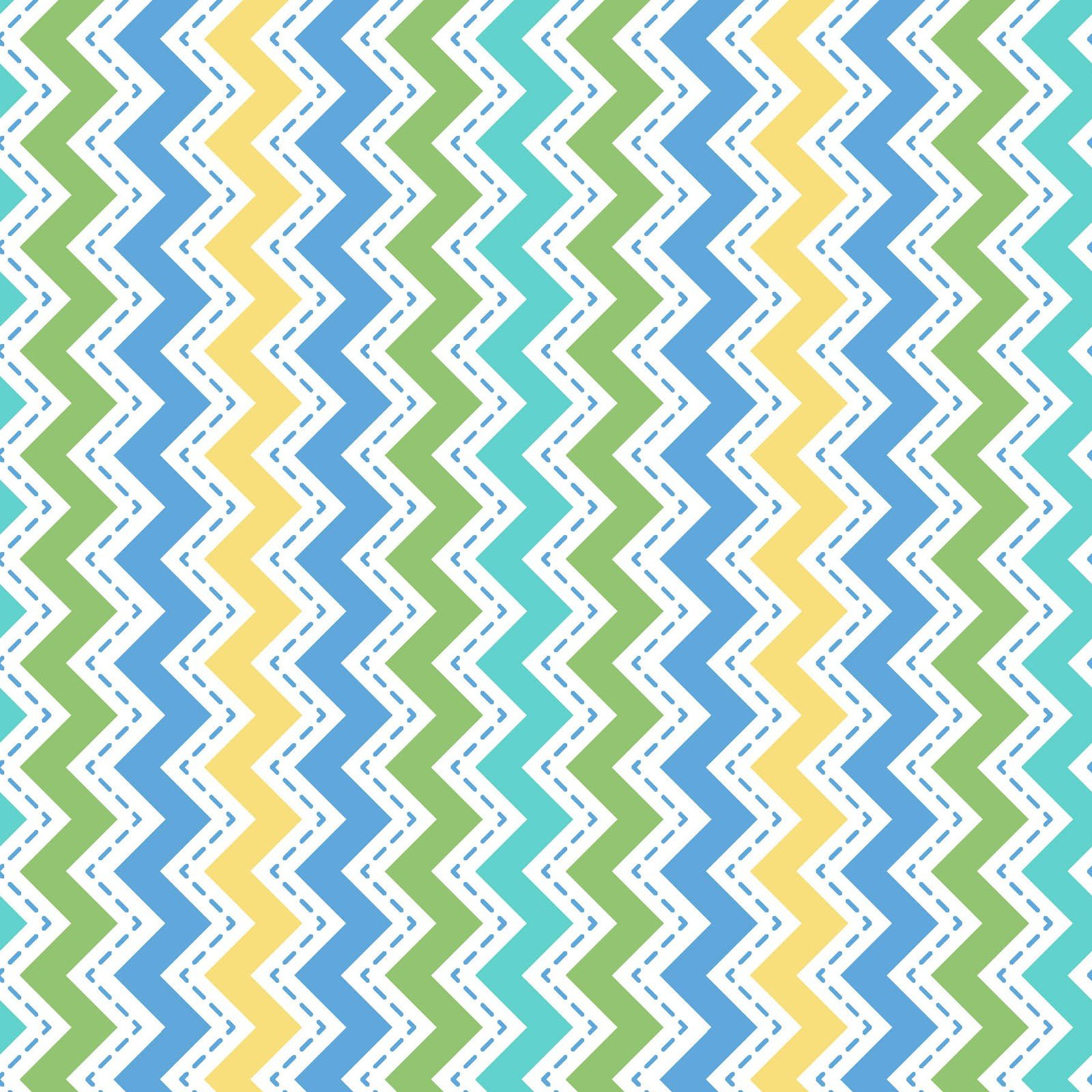 Lil' Sprout Zig Zag - Blue FLANNEL