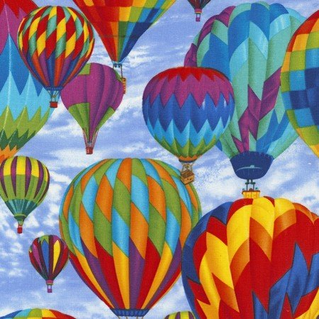 Hot Air Balloons - Sky Fabric