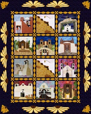 Mission Churches of New Mexico Borders/Sashing