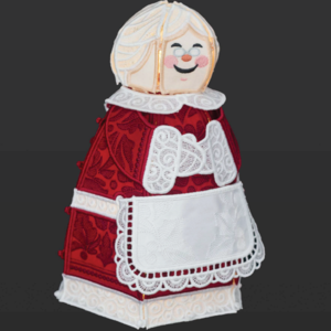 OESD Freestanding Lace Mrs. Claus CD