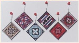 Navajo Rug Squares Ornament