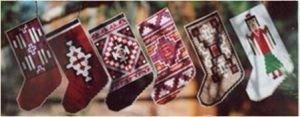 Navajo Rug Stocking Ornaments II