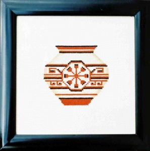 Rosette Pot Counted Cross Stitch Kit