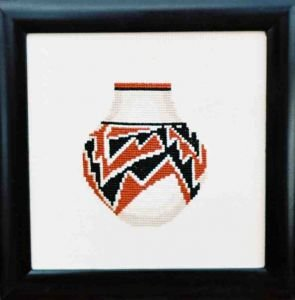 Polychrome Jar Counted Cross Stitch Kit