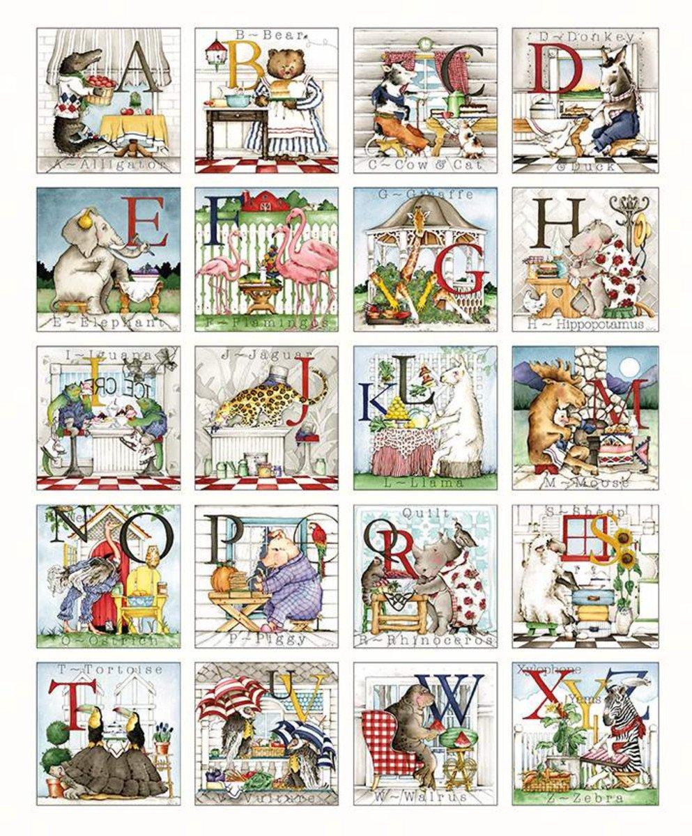 Hungry Animal Alphabet Patch Panel