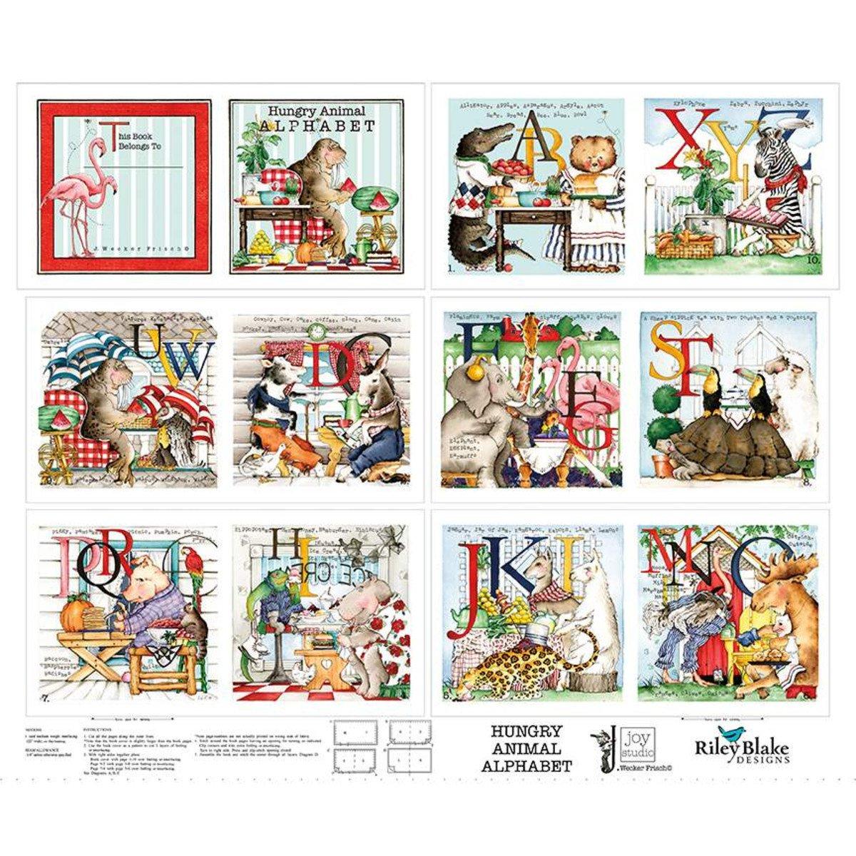Hungry Animal Alphabet Soft Book Panel