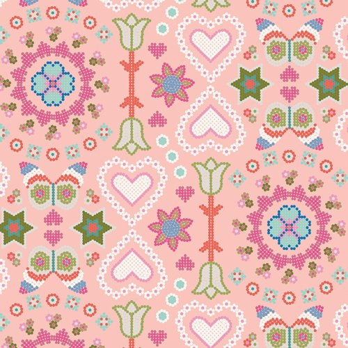 Playroom A Happy Life -  Peach Fabric