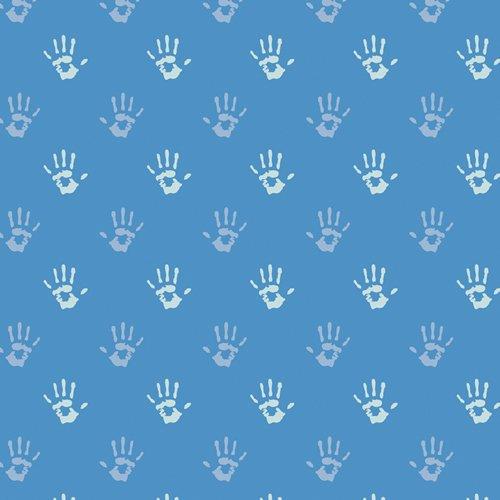 Playroom Fingerpaint - Cobalt Fabric