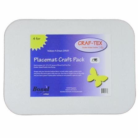 Bosal Craf-Tex Placemat Craft Rectangle Pack (set of 4)