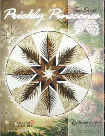 Prickly Pinecones Tree Skirt Pattern
