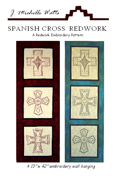 Spanish Cross Redwork