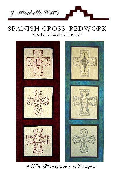 Spanish Cross Redwork
