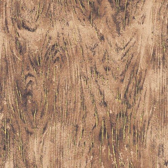 Meet Magnolia Wood Grain - Woody/Gold Fabric
