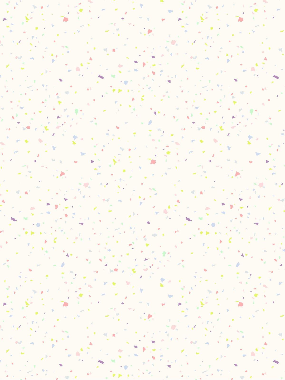 Confetti - Pastel on Cream Fabric